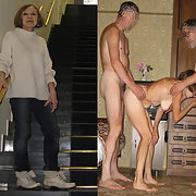 Mature woman can be another threesome sex with two men