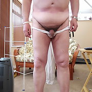Tiny cock on big man invites comment from site members