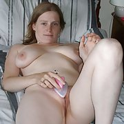 Slut naked on the bed for your pleasure