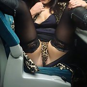 Mrs Toodosex4u flashing and playing with herself on a train