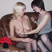 Happy wives exploring their sexuality swapping partners foursome