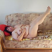 Mollymaus68 my naked posing on the couch