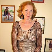 Fancy Nancy Loves Posing For You In Fishnet Body Stocking