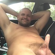 My hard cock naked, in my car