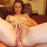 MILF amateur deep throat and self masturbating sweaty sex session