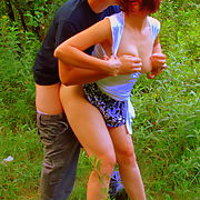 My wife fucks with her friend in nature
