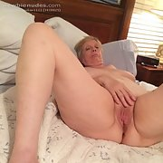 Full-frontal beauty of my mature naked wife
