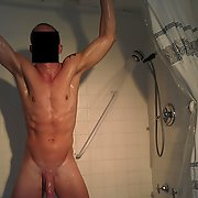 New shots of my naked well toned torso and cock in the shower
