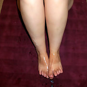 My Girlfriend's Sexy Feet and A Lot Of Cum On Them