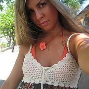 It's summer and holidays soon, pretty blonde shows off for our pleasure - part1