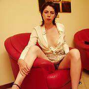 Sexy wife wearing fishnet panties