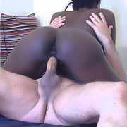 Pornstars Cane and JessyK interracial porn action
