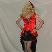 Red Satin Dress & Corset