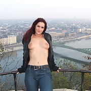 Hungarian amateur real wife flashing in Budapest