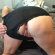 Hot wife is back in black showing her wares
