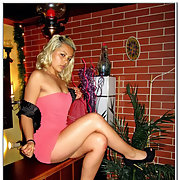Pretty blonde girl Deli stripping down and photographed