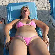 Chubby wife share her hoilday snaps with us wearing bikini thong