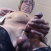 The feeling of black nylons while masturbating