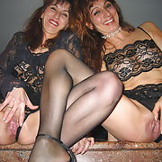 Bisexual wives intimate moments while together