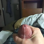 My erect cock and cum