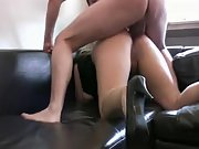 Busty MILF takes it in her ass and pussy doggystyle