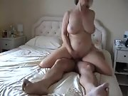 My wifes horny friend finds me playing with my cock
