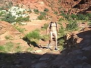 Nude Hiking at Red Rock Canyon walking around enjoying the place