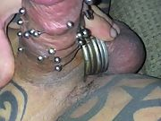 My thick pierced cock all the piercings are such a turnon