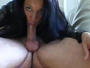 Wife shows us how to deep throat a cock