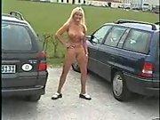 Walking around nude in public
