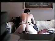 Making her moan on the couch