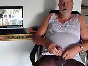 Wanking mature german Sissy faggot