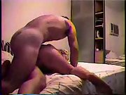 Couple Fuck several ways on the bed and try anal for first time