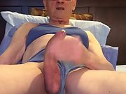 Exposed Faggot Pervert Slut Tranny in Lingerie Shoots His Wad