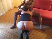 Wife pleasing her bull in front of hubby