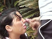 Aussie Outdoor Cumshot Masturbating To Spunking Jizz Over Face