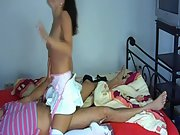 Cute brunette amateur morning cock suck and ride in short slutty skirt
