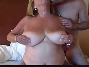 Huge Titted Mature Shares Nipples Gets Anal Bum Fucked