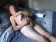 Naked on the bed and masturbating