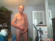 Neighbour woman watched me jerk off and cum through the window