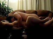 In the heat of the moment penetrative sex on our sofa bareback