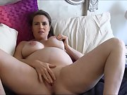 Mature pregnant wife spreads her body and masturbates