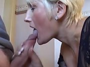 Sexy mom works very hard to make my cock cum