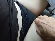 Sexy time in my car with cute girlfriend probing her pussy with finger