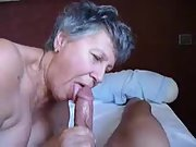 A sexy grandma just loves a large cock