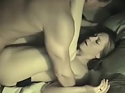 9 inches horny wife interracial double dick sex tape