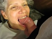 Very mature wife with my balls in her mouth