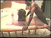 Cuck husband filming sexy wife breeding with two black men and anal