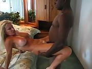 Blonde slut wife getting it good from her bull