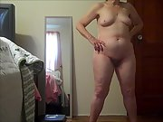 Wife Posing Totally Nude for a friend of ours to jack off